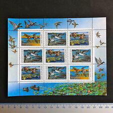 USSR RUSSIA STAMP MNH-OG 1990. FAUNA Wildlife. Ducks. SHEETLET. Canards.