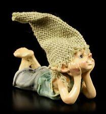 Pixie Kobold Figur träumt - Troll Zwerg Gnom