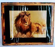 Art Print LION  PAINTING CANVAS  Street RAINBOW 70cm X 55 Australia