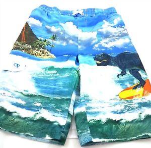 OP Ocean Pacific Boys Dinosaur Board Shorts Swim Trunks Swimwear Size XL 14-16