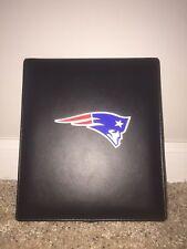 New England Patriots (Jumbo/Tournament) Dominoes Game Set Leather Case Football