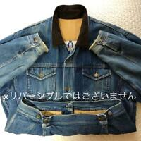 KENZO JEANS MEN JACKET COAT VINTAGE DENIM SMALL USED JAPAN FUJI WAVE RARE ART
