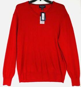 Men's DANIEL CREMIEUX Red V-Neck Luxury 100% CASHMERE Sweater XXL 2XL NEW $200