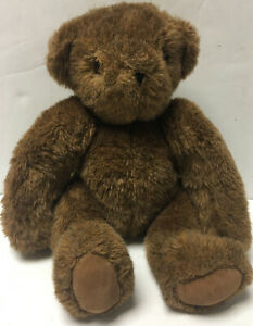 """1984 Vermont Teddy Bear Brown Jointed 14"""" Plush Classic Limited Edition Vintage"""