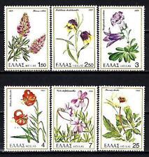 Grèce -Greece 1978 plantes rares Yvert n° 1280 à 1285 neuf ** 1er choix