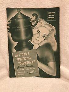 VERY RARE March 18, 1946 NIT Basketball Semi-Finals Program, Kentucky Wildcats!!