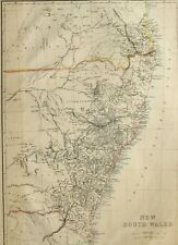 1865 ANTIQUE MAP AUSTRALIA NEW SOUTH WALES CAMDEN SYDNEY PORT JACKSON MORETON