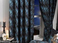 """Loups garou 66""""x72"""" rideaux & tie-dos alchemy gothic loup-garou loup bleu noir"""