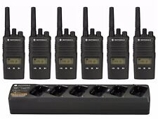 6 Motorola RMU2080d UHF Two-way Radios & Bank Charger + Rebate for a Free Radio!