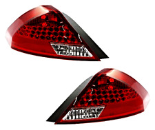 Tail Lamp / Light Assms for 06-07 ACCORD 2dr Coupe Right & Left Set w/ Black Rim