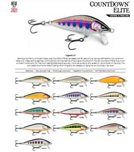 Rapala Countdown Elite // CDE75 // 7,5cm 10g Fishing Lures (Choice of Colors)