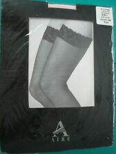 Vintage Aire pink lace top stockings, size 4, New In Package