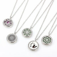 Aroma Diffuser Open Lockets Magnetic Pendant Aromatherapy Essential Oil Necklace