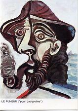 CARTE POSTALE EXPOSITION PICASSO AVIGNON 1973 / LE FUMEUR POUR JACQUELINE
