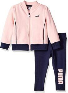 PUMA Little Girls'  2 Pcs Set Fleece Jacket and Legging (12-24 Months)