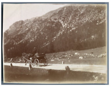 Suisse, Glacier de Morteratsch Vintage citrate print.  Tirage citrate  8,5x1