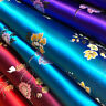 Chinese Floral Satin Faux Silk Fabric Jacquard Brocade Tang Suits Upholstery Sew