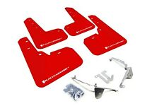 Rally Armor Mud Flaps Guards for 13-17 Subaru XV Crosstrek (Red w/White Logo)