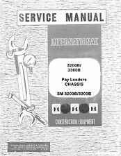 International 3400-A 3400A 3500-A 3500A Tractor Pay Hoe Chassis Service Manual