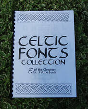 Book of Celtic Tattoo Lettering Fonts - A1 Collection