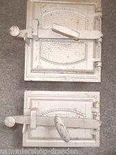 21189 Ofentür Paar Rahmen Jugendstil oven door 1900 Innentür art nouveau pair