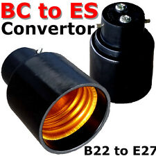 Change Bayonet Cap to Edison Screw Lamp Holder Adapter Converter BC to ES DIY