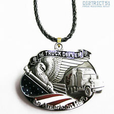 The Truck Driver Leather Necklace - Necklace Leather - American Hero USA US