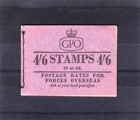 GREAT BRITAIN DEC.1957 4/6d BOOKLET L2 FINE & COMPLETE.