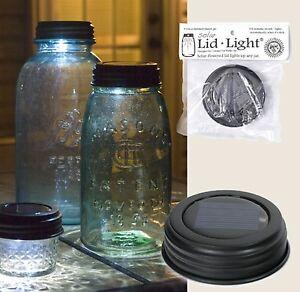BROWN SOLAR Powered Mason Canning Fruit Ball Jar LED LID LIGHT Rustic Lamp