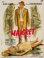 Maigret tend un piege Jean Gabin movie poster print