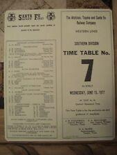 ATSF-SANTA FE RAILWAY SOUTHERN DIVISION EMPLOYEE TT #7  JUNE 15,1977-MINT-TAN