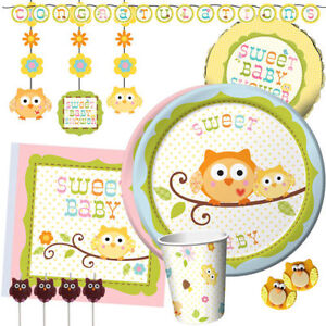 HAPPI TREE Baby Shower Party Range - Tableware Balloons Banners & Decorations