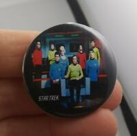 Vintage STAR TREK pin pinback button classic TV Series Show Space Crew *FF