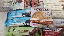 Qty 25 Quest Bars Variety Assorted Cookies Mint Chocolate Peanut **READ x25