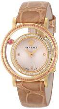Versace Women's VDA060014 Venus DIAMOND Gold Dial Beige Alligator Leather Watch