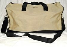Calvin Klein Khaki & Black Weekender Travel Duffle Bag with Shoulder Sttap NW0T
