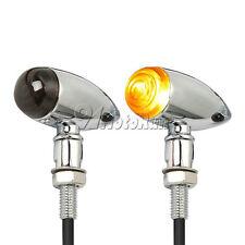 2X Chrome Turn Signals Blinker For Harley Fatboy Dyna Sportster XL 1200 883