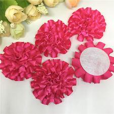 5pcs Rose red ribbon big Peony Flower Appliques/craft/Wedding decoration#
