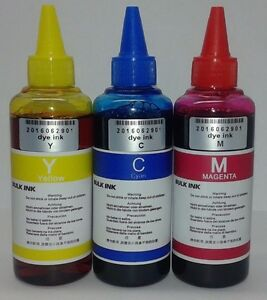 300ml Tricolor Refill Bulk Ink for Epson Compatible Refillable Cartridge USA