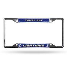 Tampa Bay Lightning NHL Rico Industries  Standard Chrome License Plate Frame