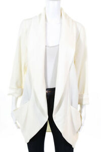 Wilfred Womens Full Length Short Sleeve Cardigan Top White Size Small