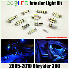 Fits 2005-2010 Chrysler 300 BLUE Interior LED Light Package Replacement Kit 12PC
