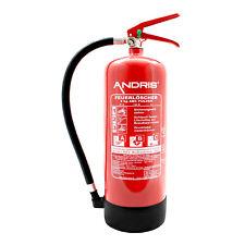 Feuerlöscher ABC Pulver mit Manometer EN3 6kg + ANDRIS® Prüfnachweis
