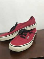 Pre owned Vans laced up men's size 10 red of the wall