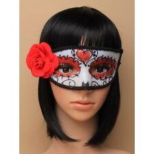 1 x Halloween Giorno dei Morti Maschera Occhi Donna Sugar Skull Costume Maschera Occhi