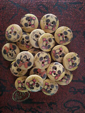 20PC Wooden Buttons Round Sewing Buttons Lots 15mm 2 Holes #N24
