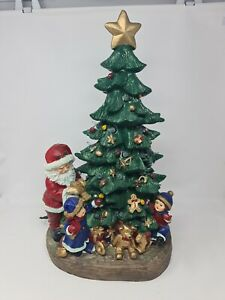 Light Up Christmas Tree with Santa & Children - Festive Ambience For Christmas