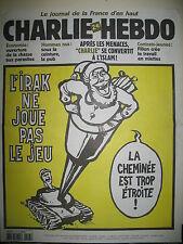 CHARLIE HEBDO 547 CHARLIE SE CONVERTIT VAL MOUGEY LUZ WOLINSKI RISS GéBé  2002