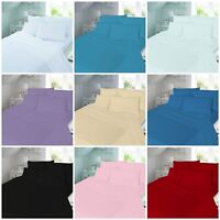 "Luxury Flannelette 100% Cotton EXTRA DEEP FITTED SHEETS Pillow Cases 16"" 40 CM"