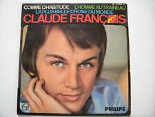 VINYLE 45 tours COMME D'HABITUDE de Claude François